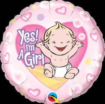 balony z helem na narodziny