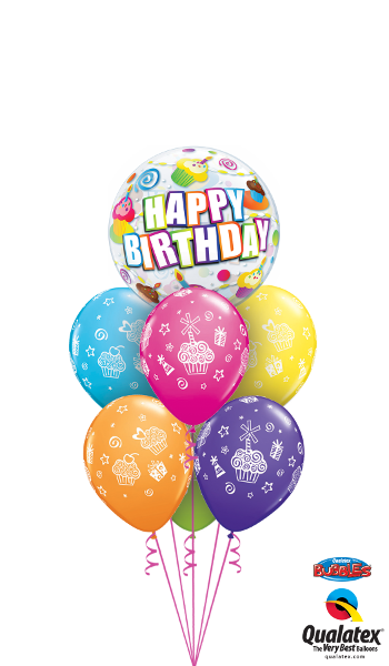 30799 31227 Birthday Colourful Cupcakes Bubble Luxury