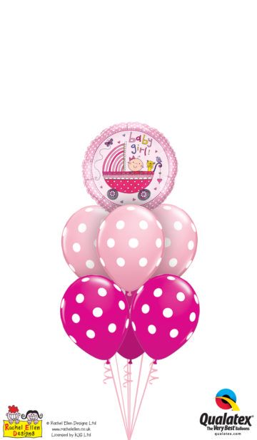balony z helem na baby shower