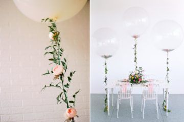 balony z helem na śluby