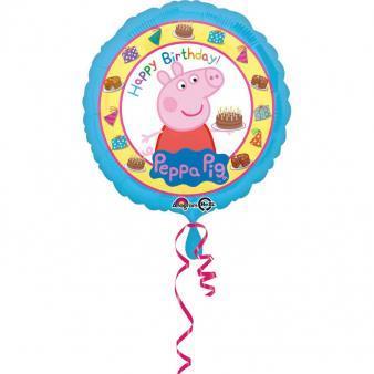 balon świnka peppa z helem
