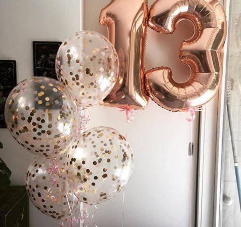 balony cyfry z helem