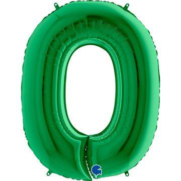 cyfry z helem zielone 0