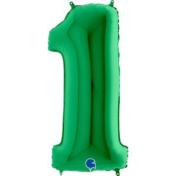 cyfry z helem zielone 1