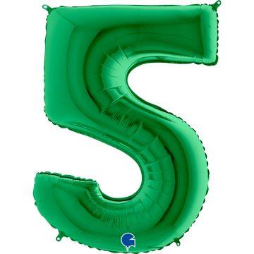 cyfry z helem zielone 5