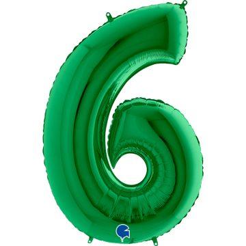 cyfry z helem zielone 6
