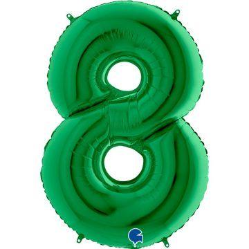 cyfry z helem zielone 8