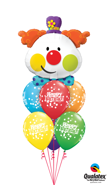 49403 52962 Cute Birthday Clown Confetti Luxury