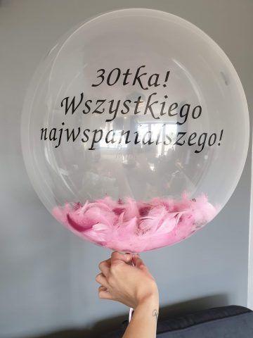 balon z tekstem personalizowany