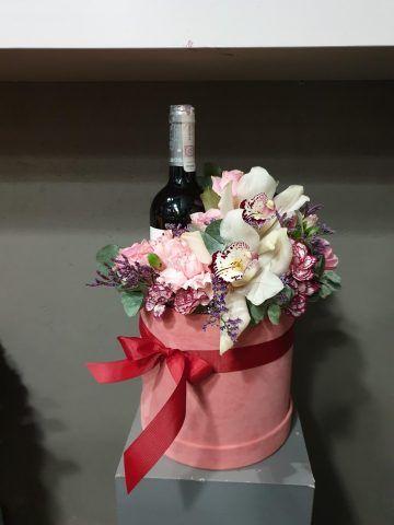 pudełka kwiatowo alkoholowe