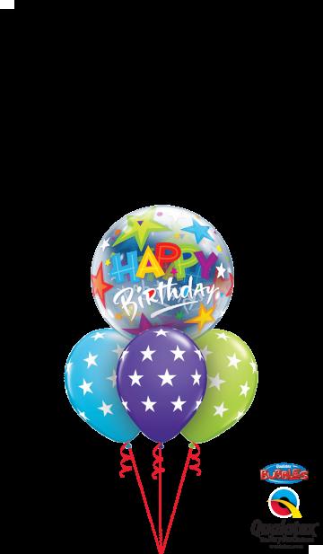 23595 37052 Birthday Brilliant Stars Bubble Layer
