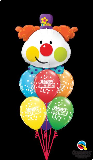 49403 52962 Cute Birthday Clown Confetti Luxury