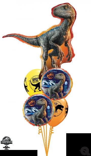 zestaw balonów dinozaury