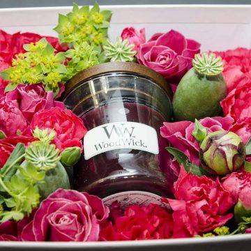 flower box ze świecą woodwick