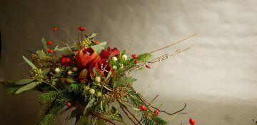 bukiety świąteczne sfera zieleni