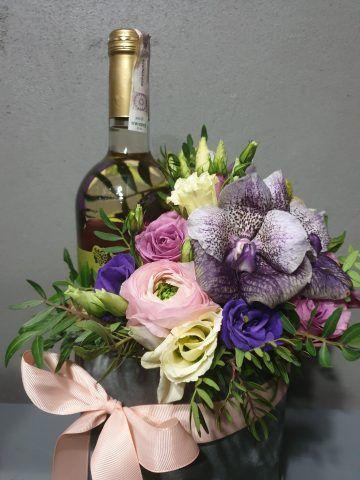 flower boxy z winem sfera zieleni